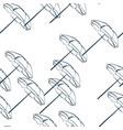 sun umbrella traveling seamless pattern outline vector image