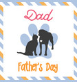 sweet card for fathers day vector image vector image