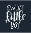 sweet little boy motivational quote hand drawn vector image vector image