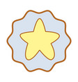 symbol cuite light star image vector image vector image