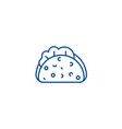 taco line icon concept taco flat symbol vector image