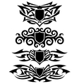 tattoo shields set vector image vector image