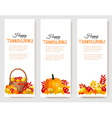 Three Happy Thanksgiving Banners vector image