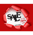 Torn paper with big sale and best offer design vector image vector image