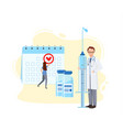 vaccination calendar concept universal vector image