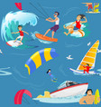water extreme sports seamless patterns design vector image vector image