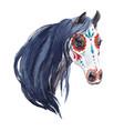 watercolor horse portrait vector image vector image