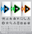 website ux icons vector image vector image