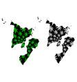 western visayas region regions and provinces of vector image vector image