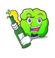 with beer shrub mascot cartoon style vector image