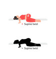 young sporty woman practicing yoga vector image