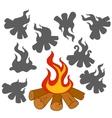 Bonfire vector image