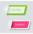 modern banners on gray background vector image