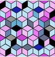 abstract cubes vector image vector image