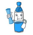 architect water bottle character cartoon vector image vector image