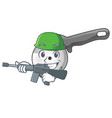 army pizza cutter knife cartoon for cutting vector image vector image
