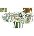 auto trade shows text background word cloud vector image vector image