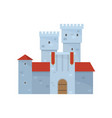 blue tower building castle complex with red roof vector image vector image