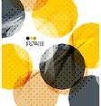 Bright yellow geometric modern design template vector image vector image