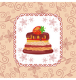 Cake pattern background vector image