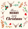 christmas graphic and elements with quote vector image