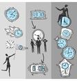 clock banners set vector image