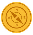 compass gold coin vector image