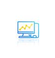 computer analysis statistics icon vector image vector image