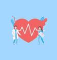 diagnosis heart disease concept vector image