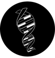 DNA icon vector image vector image
