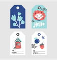 doodle tags collection vector image vector image