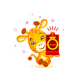 emoji marry me character cartoon giraffe box with vector image vector image