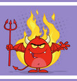evil red devil cartoon character vector image vector image