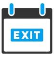 Exit Caption Calendar Day Toolbar Icon vector image vector image