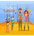 Family And Autumn Season vector image vector image