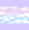 fantasy sky white clouds on magic rainbow vector image