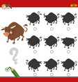 finding shadow game with bull vector image vector image