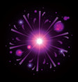 fireworks bursting in shape of star with magenta vector image vector image