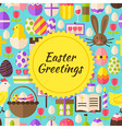 Flat Happy Easter Background vector image vector image