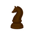 flat icon of brown chess piece - knight vector image vector image