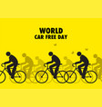 for world car free day awareness vector image vector image