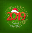 green new year card vector image