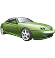 Green sport car vector | Price: 3 Credits (USD $3)