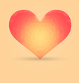 Heart with Polygonal Pattern vector image vector image