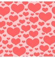 hearts pattern pink2 vector image vector image