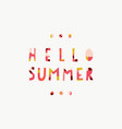 hello summer collage paper cut out style vector image vector image