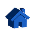 home symbol flat isometric icon or logo 3d style vector image vector image