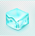 ice cube isolated transpatrent frost vector image