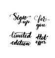 inscription handwritten brush lettering set vector image vector image