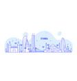 istanbul skyline turkey city a vector image vector image